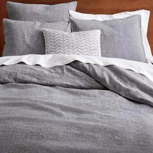 100% Linen Solid Color Duvet Cover Set